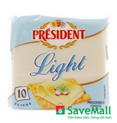 Phô Mai Slices Light Président Gói 200g