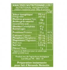 Sữa Bột Hạnh Nhân Hạt Phỉ Hữu Cơ La Mandorle hộp 400g